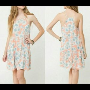 Orange O'Neill Daisy Print Sundress